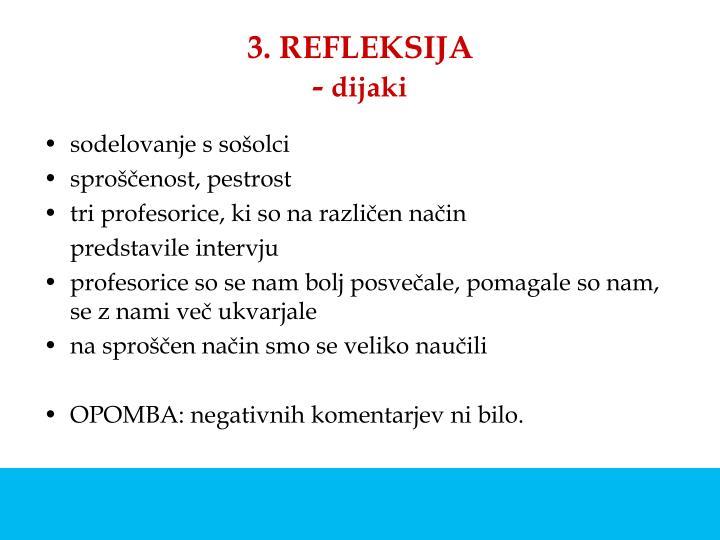 3. REFLEKSIJA