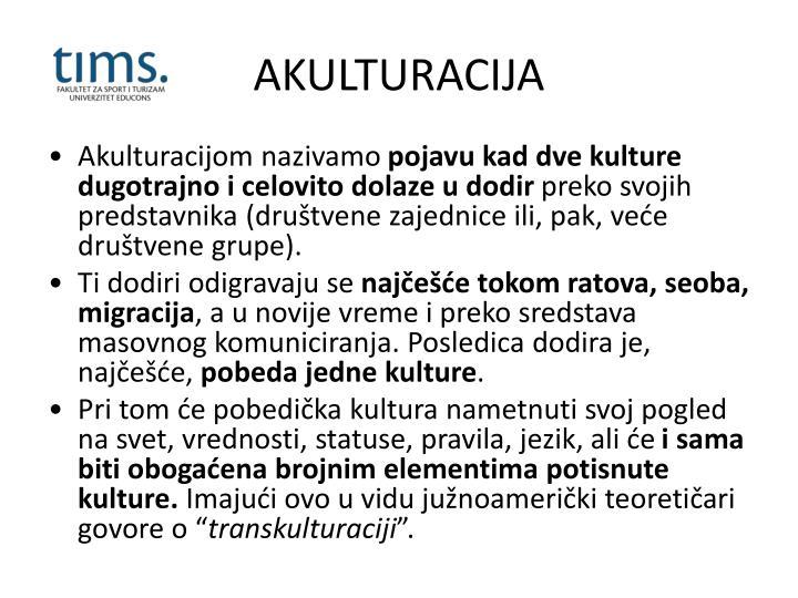 AKULTURACIJA