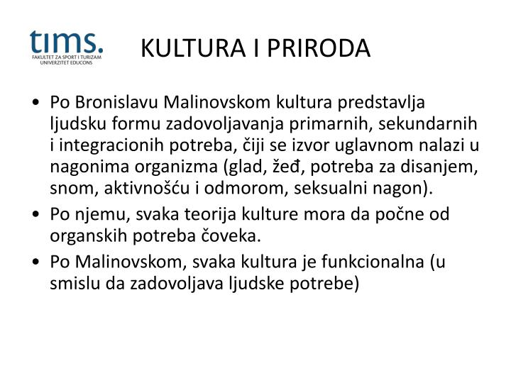 KULTURA I PRIRODA