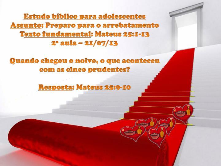 Estudo bíblico para adolescentes