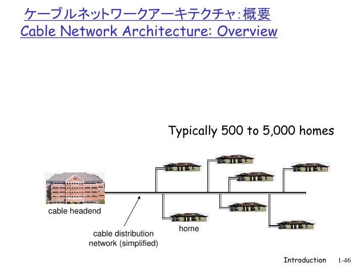 ケーブルネットワークアーキテクチャ:概要