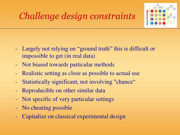 Challenge design constraints