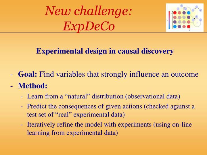 New challenge: ExpDeCo