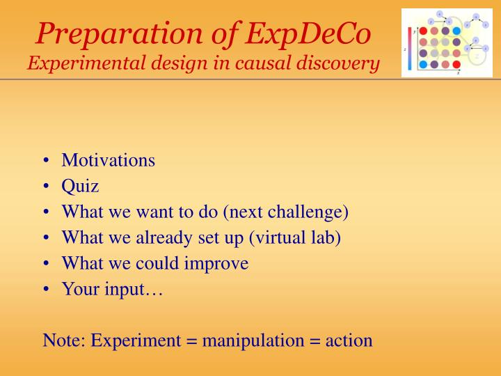Preparation of ExpDeCo