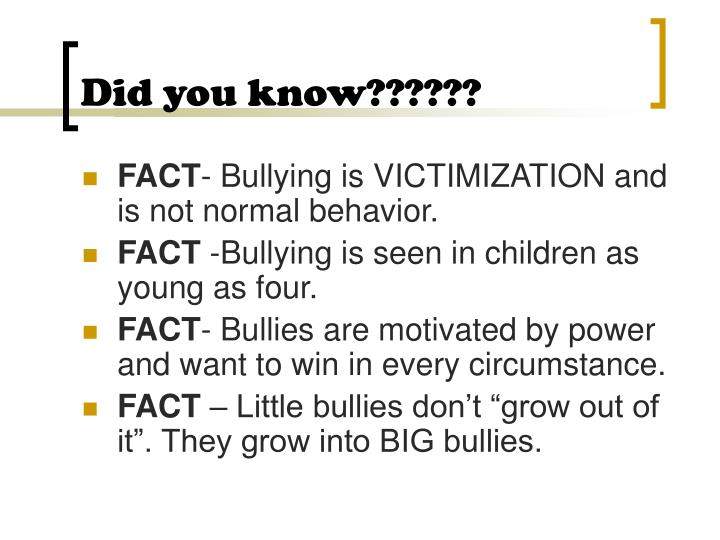 Did you know??????