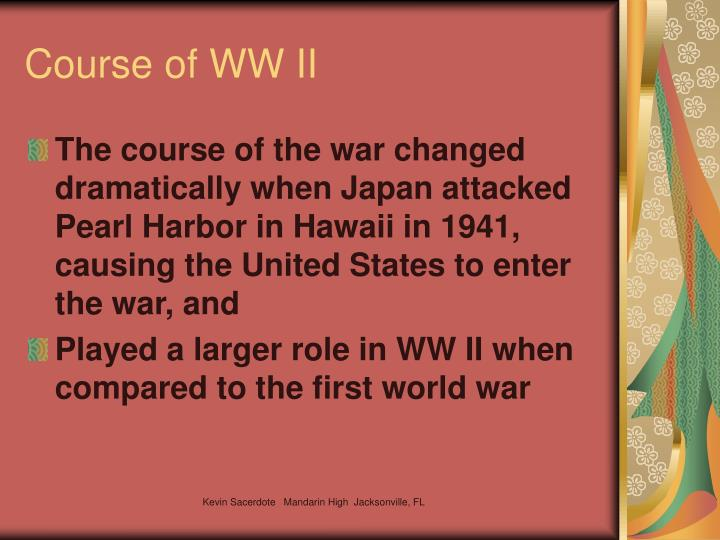 Course of WW II