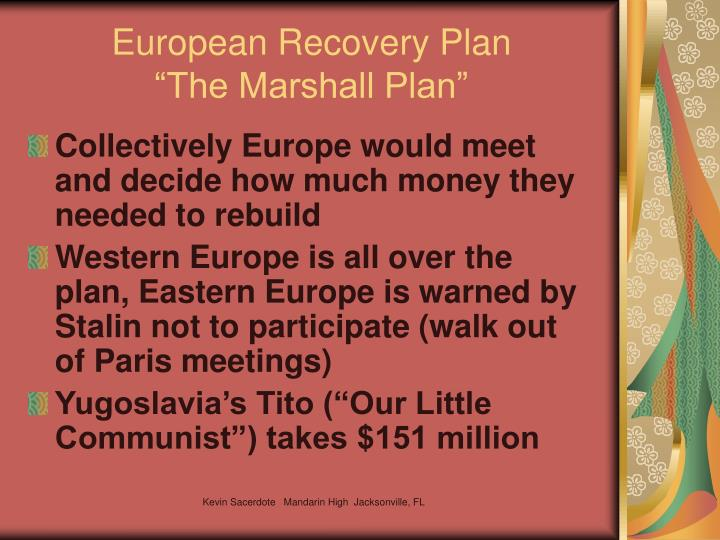 European Recovery Plan