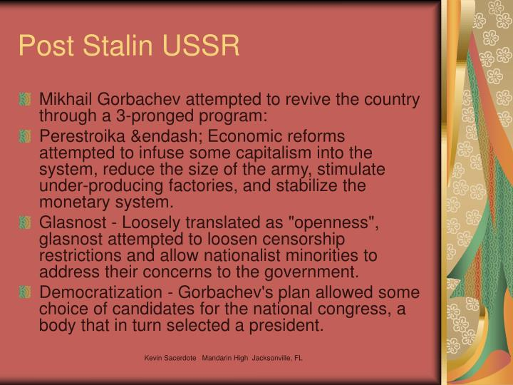 Post Stalin USSR