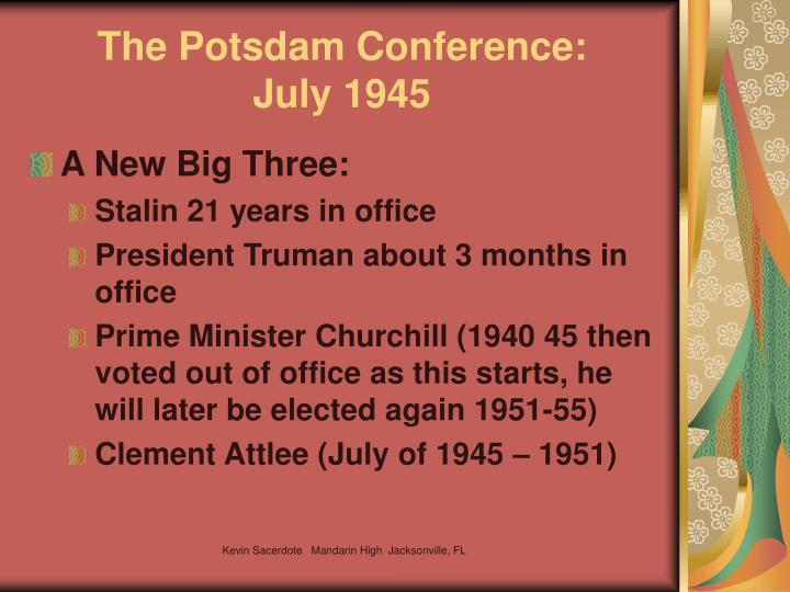 The Potsdam Conference:
