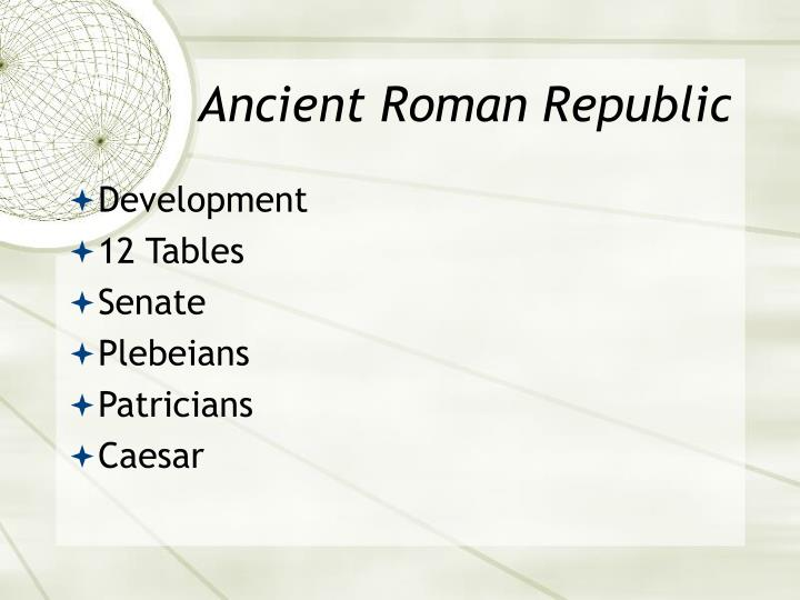 Ancient Roman Republic