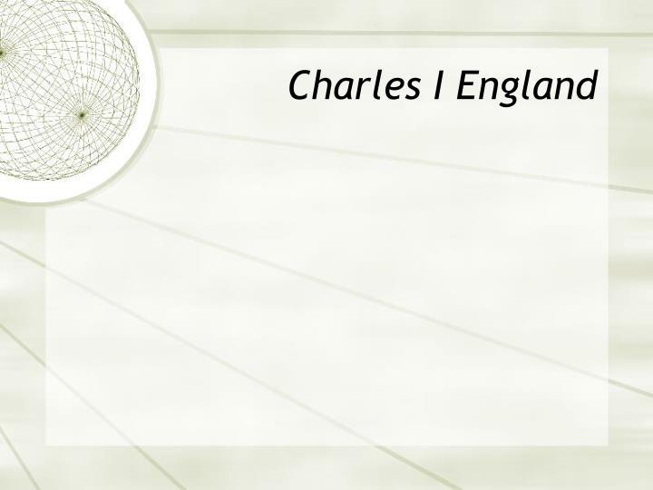 Charles I England
