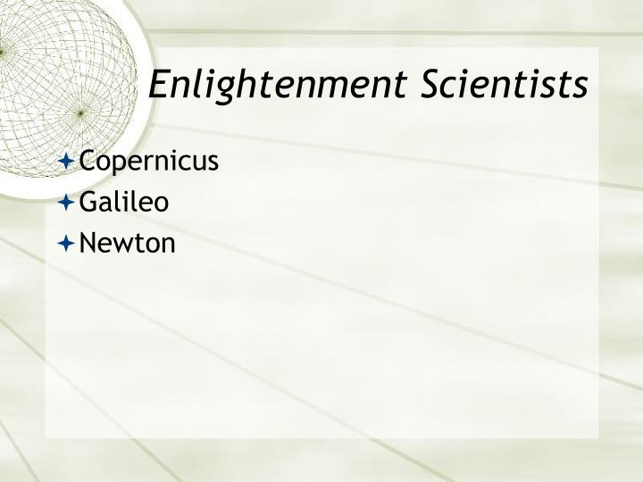 Enlightenment Scientists