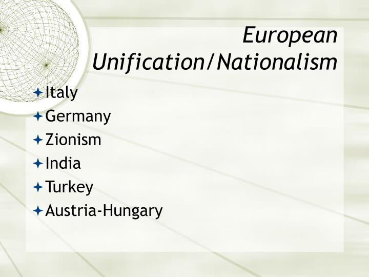 European Unification/Nationalism