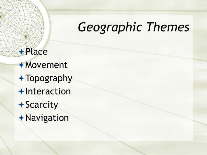 Geographic Themes