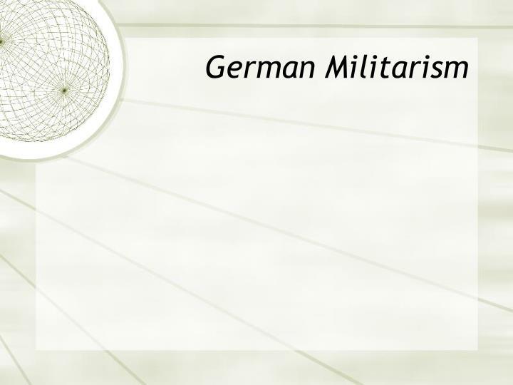 German Militarism