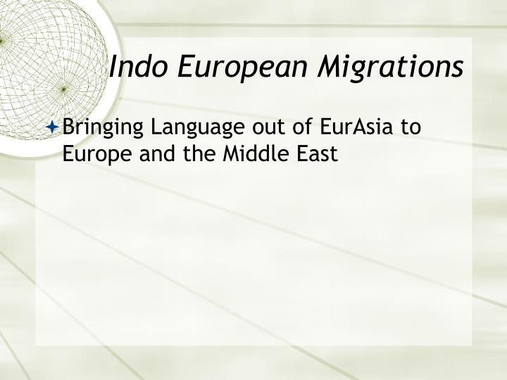 Indo European Migrations