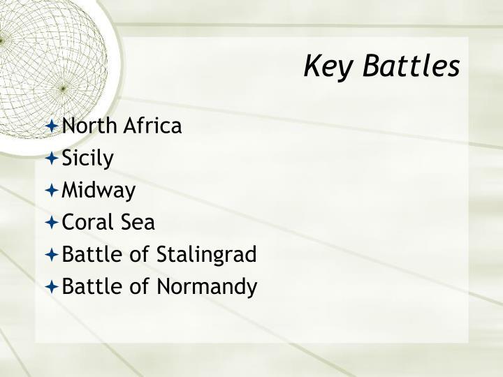 Key Battles