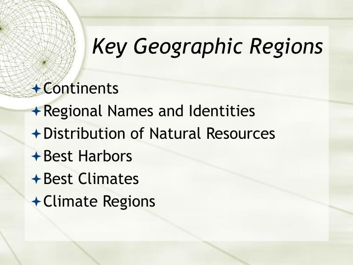 Key Geographic Regions