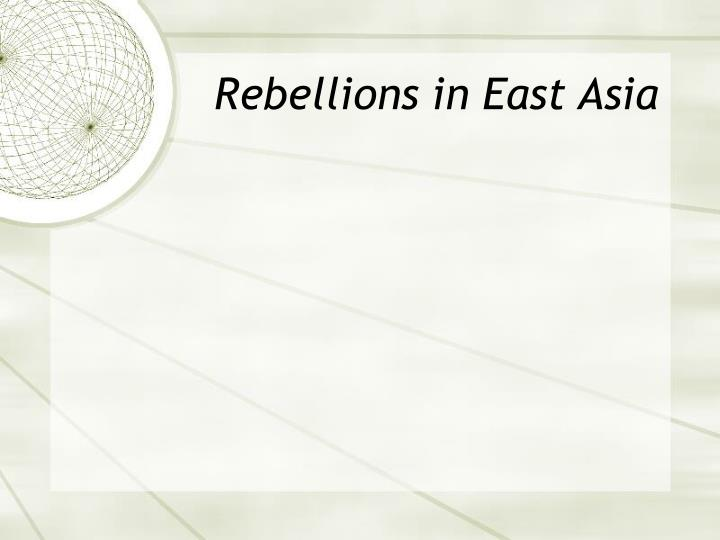 Rebellions in East Asia