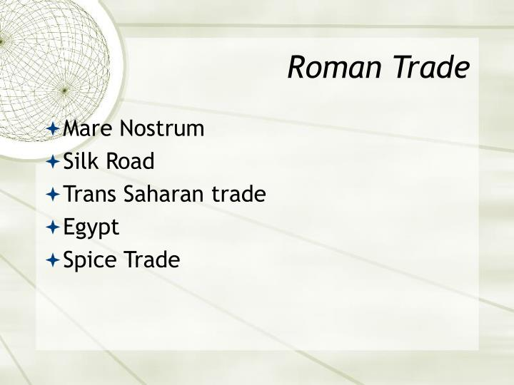 Roman Trade
