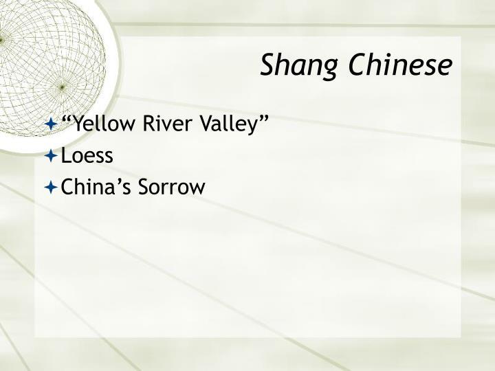 Shang Chinese