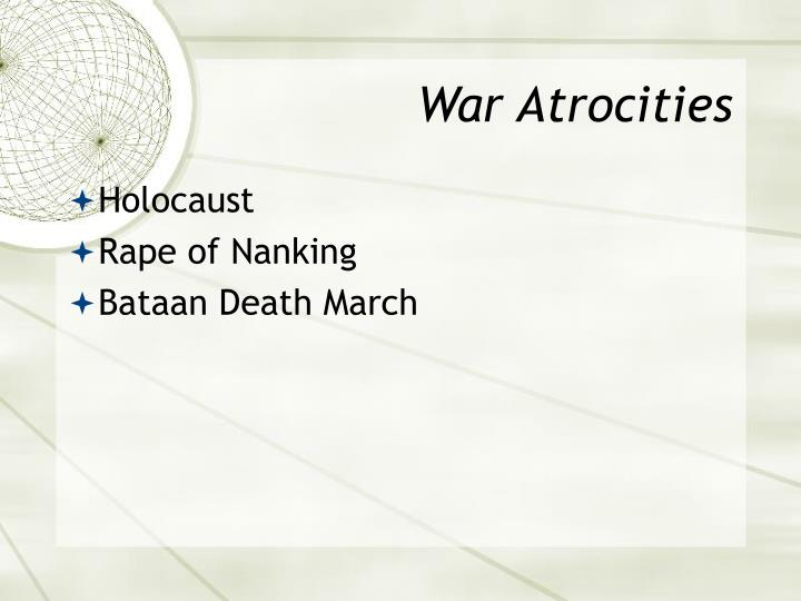 War Atrocities