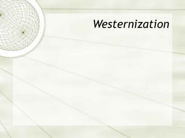 Westernization