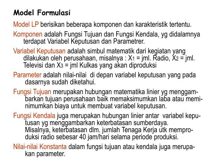 Model Formulasi
