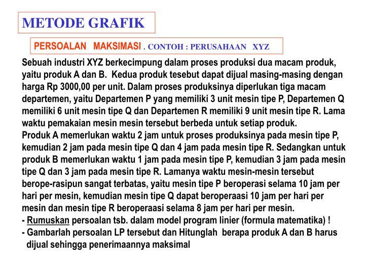 METODE GRAFIK