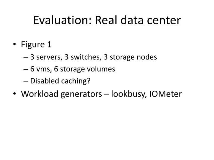 Evaluation: Real data center