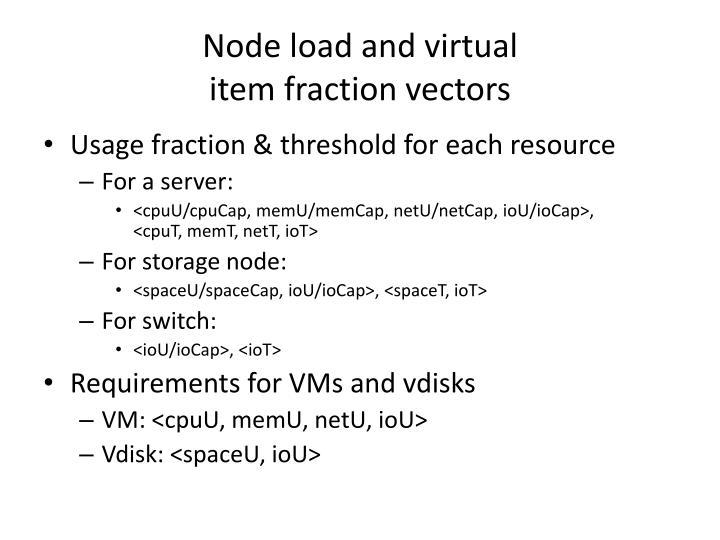 Node load and virtual