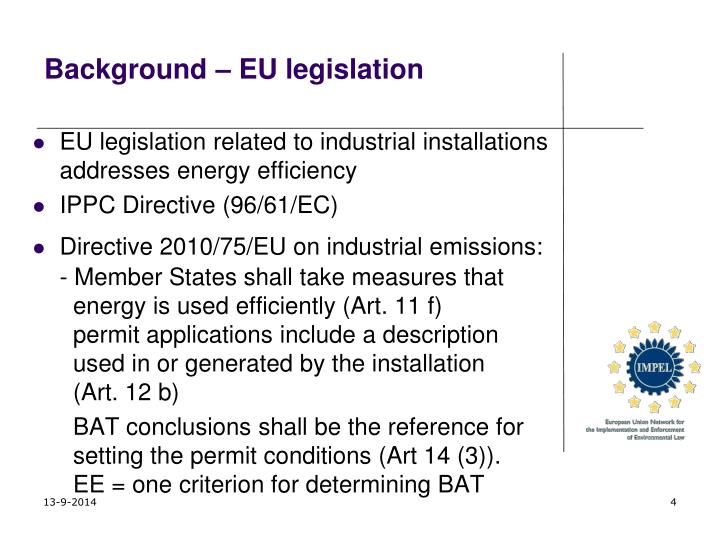Background – EU legislation
