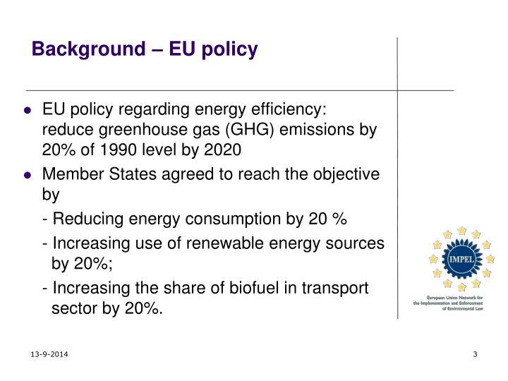 Background – EU policy