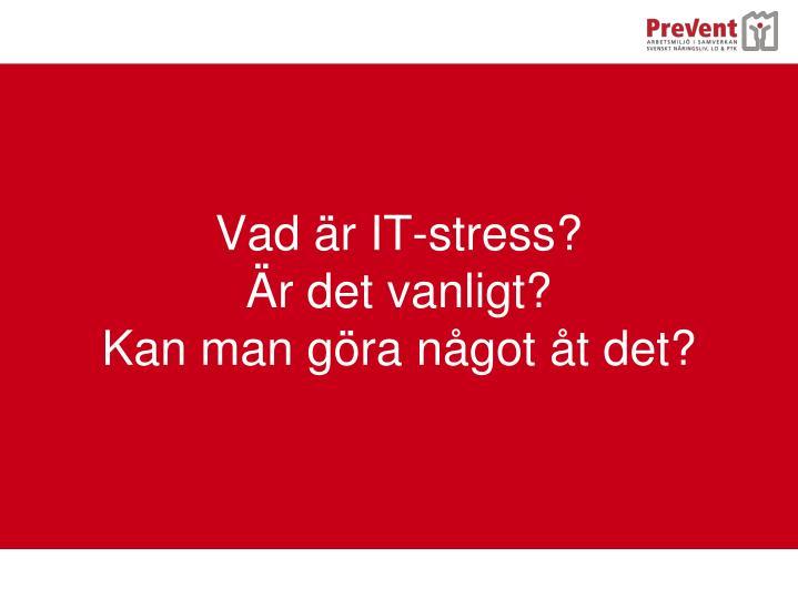 Vad är IT-stress?