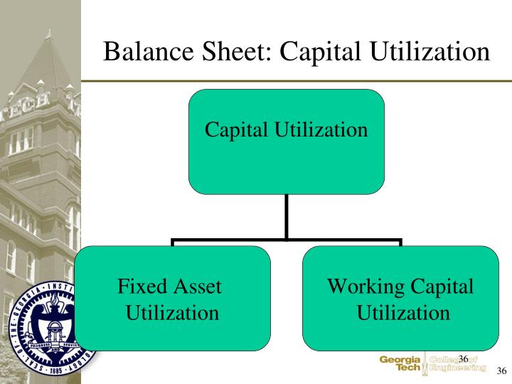 Balance Sheet: Capital Utilization