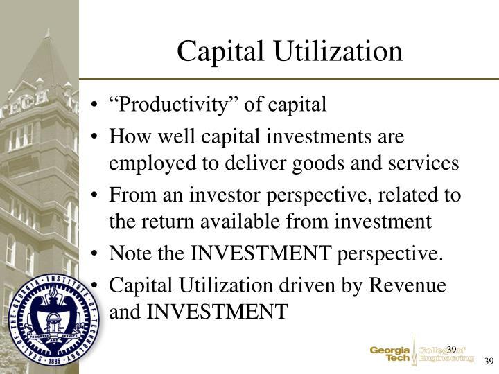 """""""Productivity"""" of capital"""