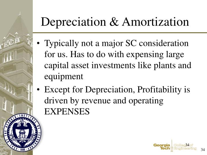 Typically not a major SC consideration for us. Has to do with expensing large capital asset investments like plants and equipment