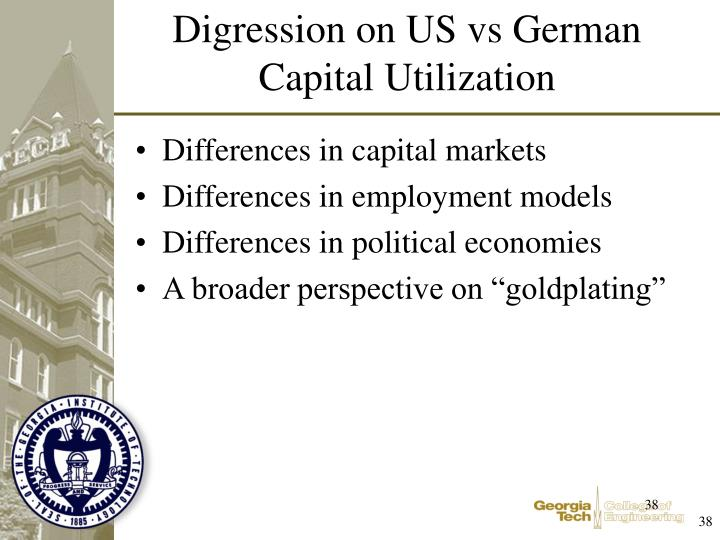Differences in capital markets