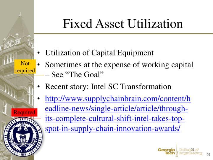 Utilization of Capital Equipment