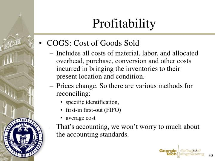 COGS: Cost of Goods Sold