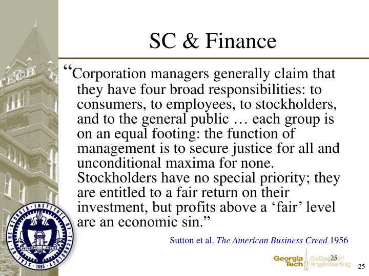 SC & Finance