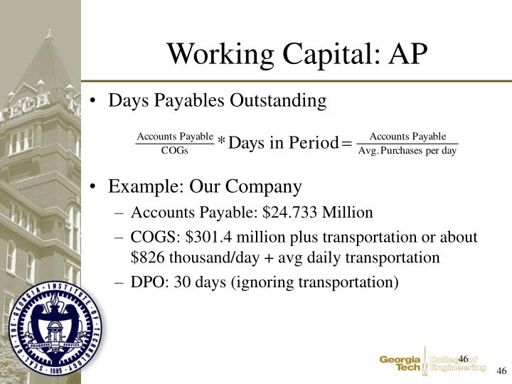 Working Capital: AP