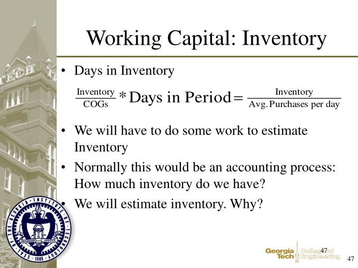 Working Capital: Inventory