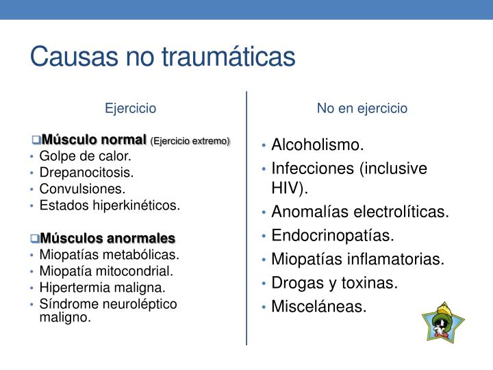 Causas no traumáticas
