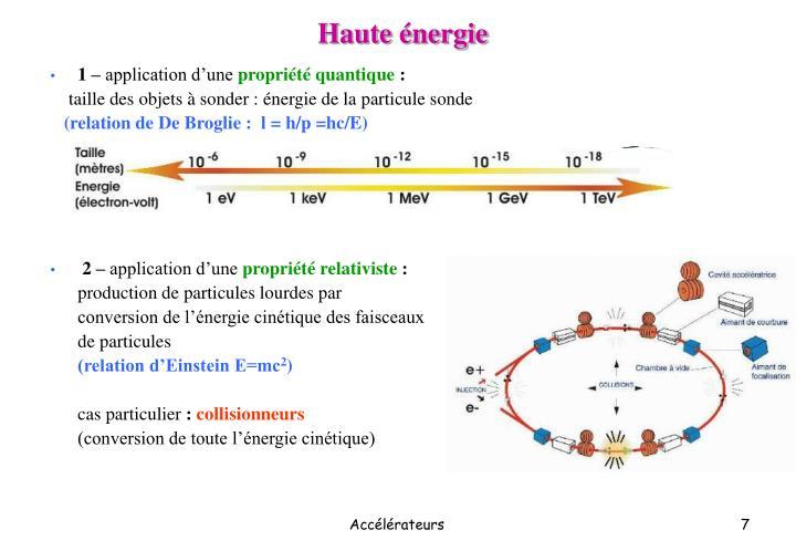 Haute énergie