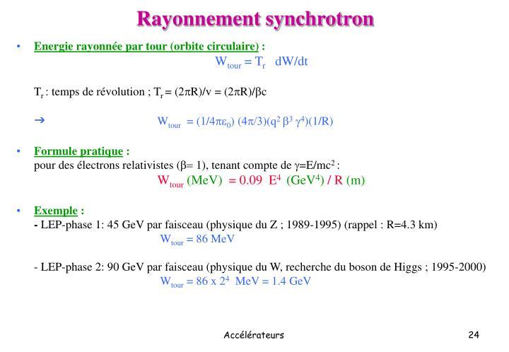 Rayonnement synchrotron