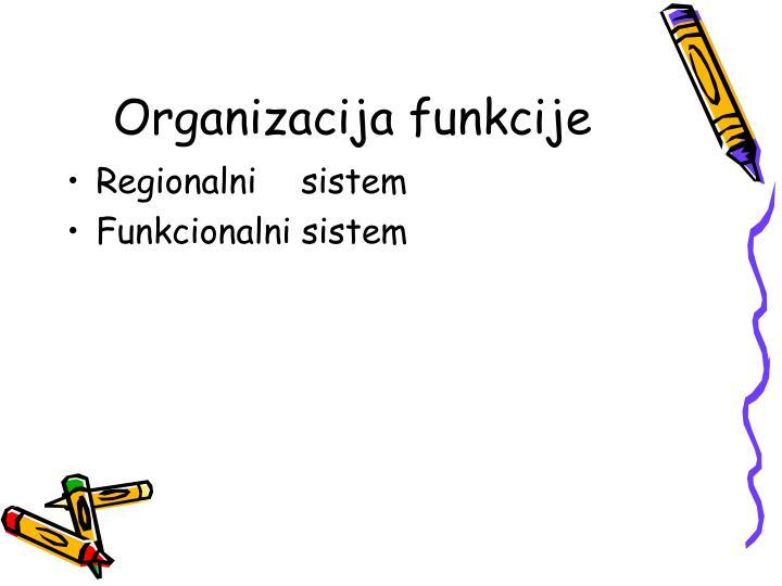 Organizacija funkcije