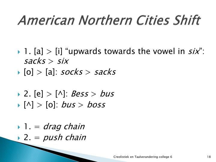 American Northern Cities Shift