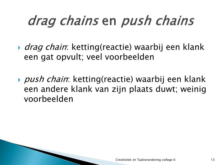 drag chains