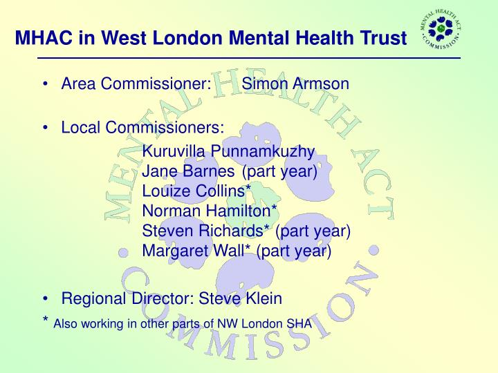 MHAC in West London Mental Health Trust